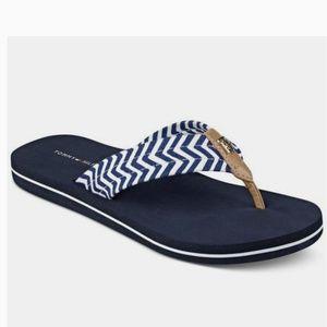 Tommy Hilfiger Flip Flop Sandals Blue Nautical ⚓